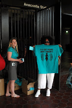 Photo: 4.10.13 passing out anti-harassment week/sexual assault awareness month materials at the Washington, DC metro
