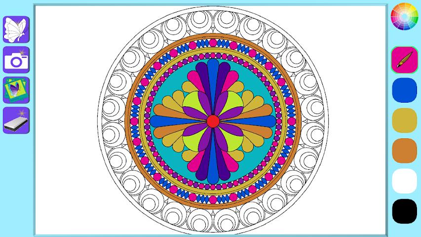 android De Stress Mandala Painting Screenshot 2