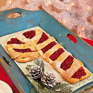 Cherry Candy Cane Coffee Cake