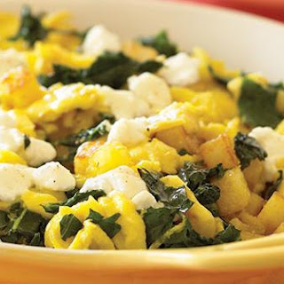 Skillet Scramble with Kale and Garlic.