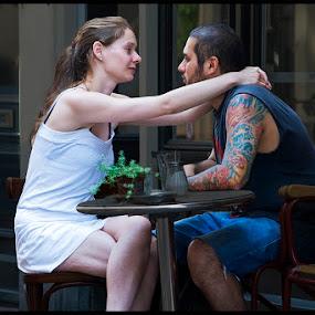 Amsterdam 2012 by Fernand De Canne - City,  Street & Park  Street Scenes ( love, street, terraces, people, couples )