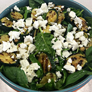 Zucchini Chickpea and Feta Salad
