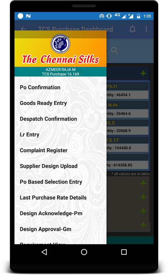 THE CHENNAI SILKS - SUPPLIER- screenshot