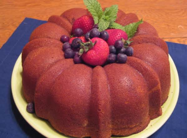 Three-sugar Pound Cake Recipe