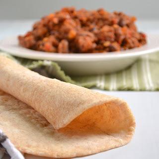 Small Batch Soft Whole Wheat Tortillas.