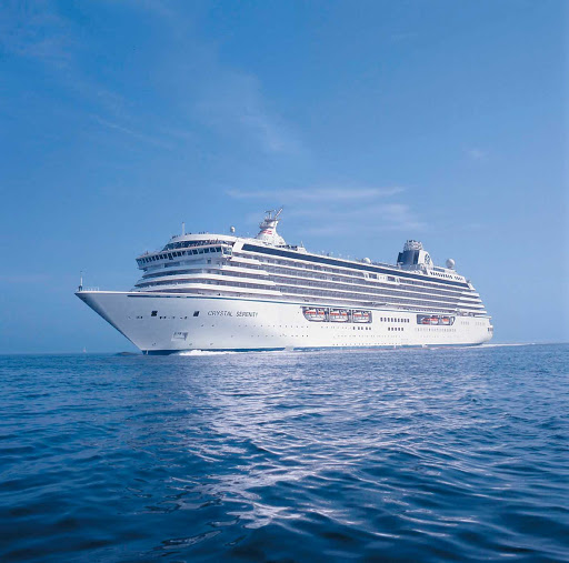 crystal-serenity-moored.jpg - The 5-star Crystal Serenity carries 1,070 passengers to all regions of the world.