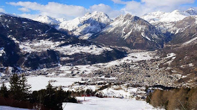 Photo: panoramica su Oga & s.Lucia & Bormio dalla Pista Stelvio [ph. Rick SANTELLI - thanks!]