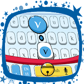 Cute Blue Cat Keyboard Theme