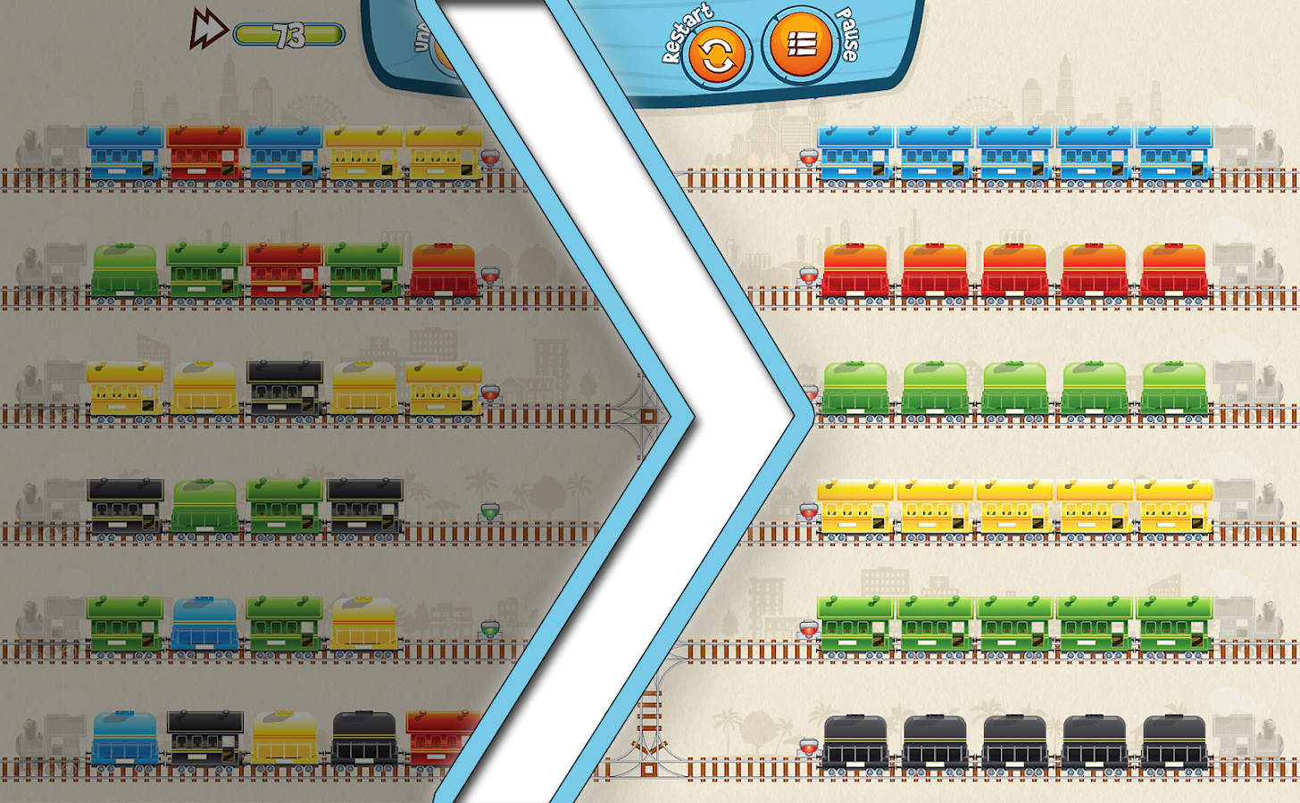 Train Mix - challenging puzzle- screenshot