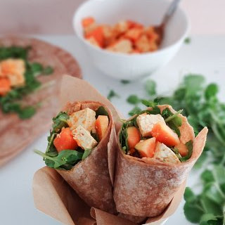Curried Tofu Papaya Wraps.