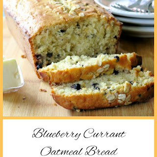 Blueberry Currant Oatmeal Bread #BreadBakers