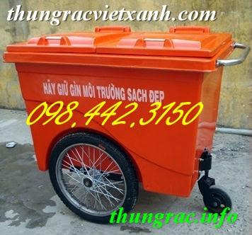 Xe rác 660 lít
