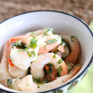 Cilantro Lime Marinated Shrimp for #SundaySupper