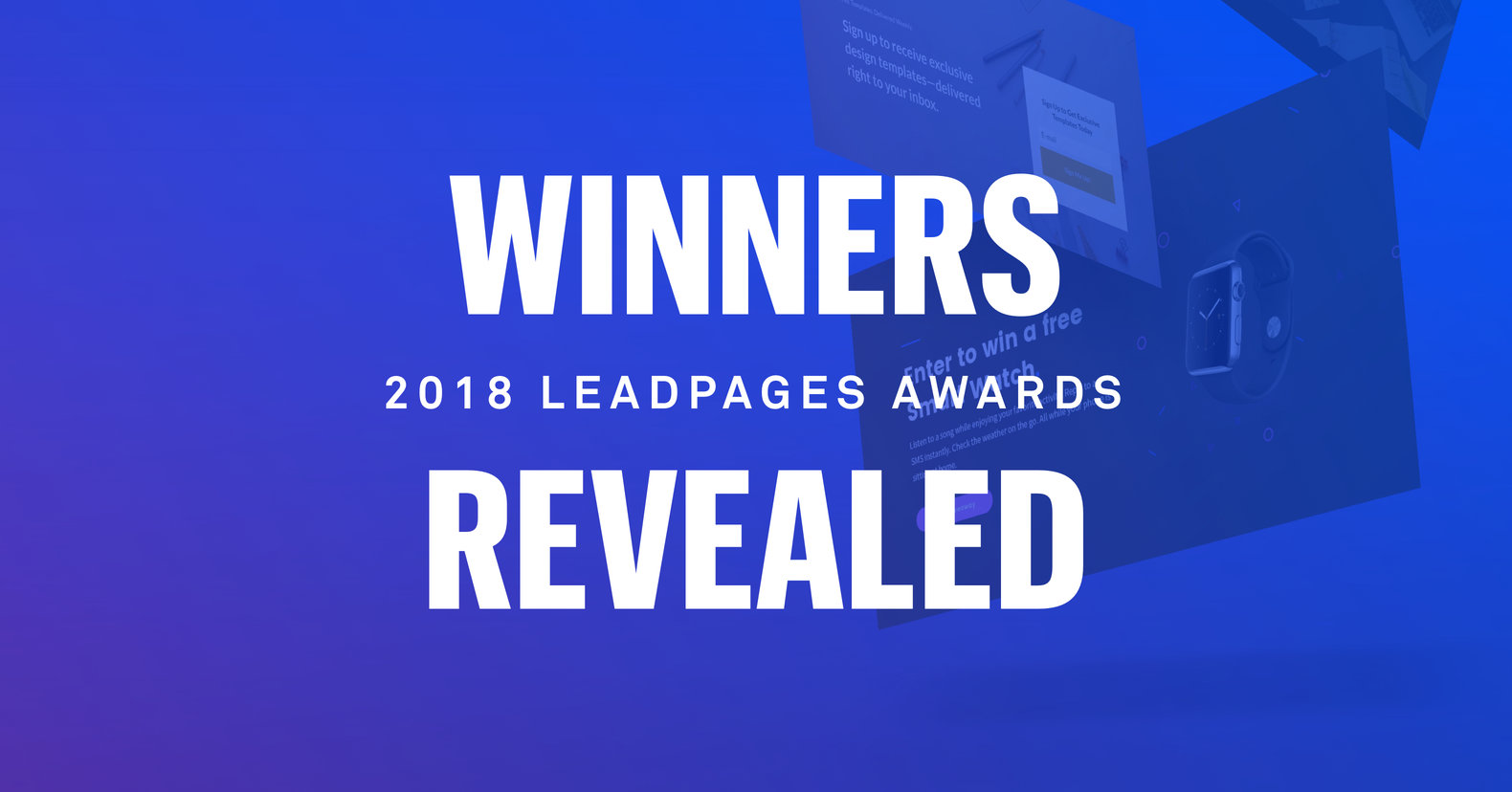 Winners Revealed: 2018 Leadpages Awards