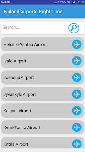 Finland Airports Flight Time - náhled