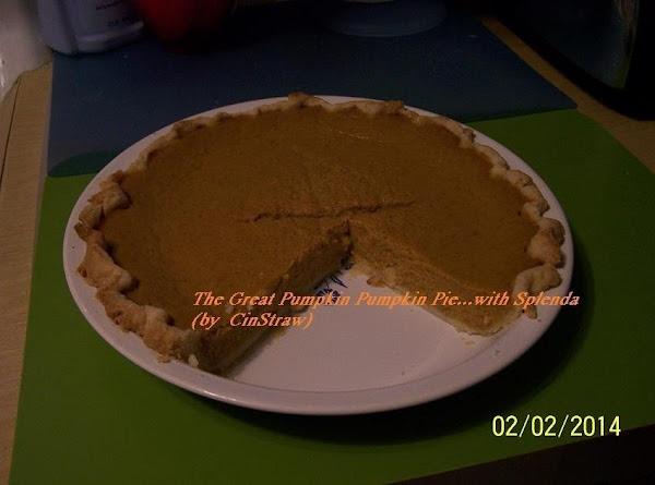 The Great Pumpkin Pumpkin Pie...came In My Splenda Newsletter Recipe