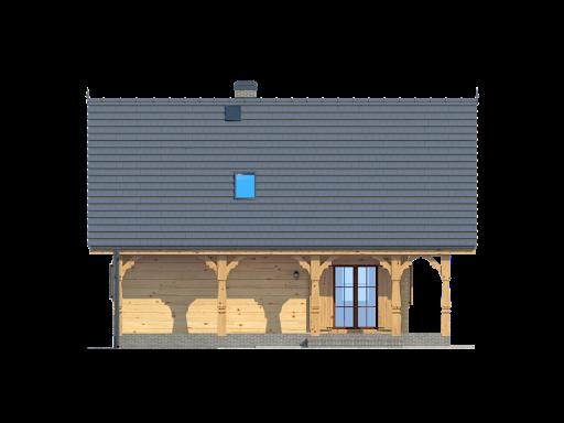 Dom mazurski dw - Elewacja tylna