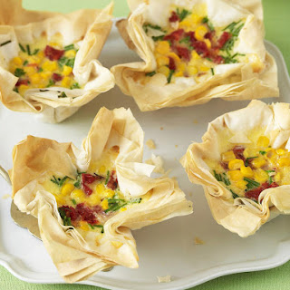 Corn and Sun-Dried Tomato Tartlets