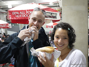 Photo: First lunch in Taiwan - a Costco hotdog