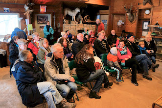 Photo: GSM members and guests of all ages listen to an introduction to the Wildlife Science Center.