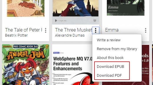Download PDF option