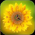 Sunflower Clock Live Wallpaper APK