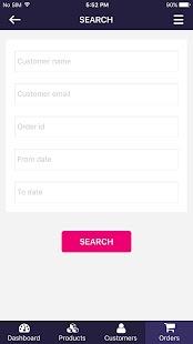 PrestaShop Admin App - náhled