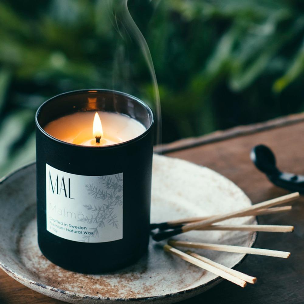 適用於居家空間,木質調 瑞典天然香氛蠟燭