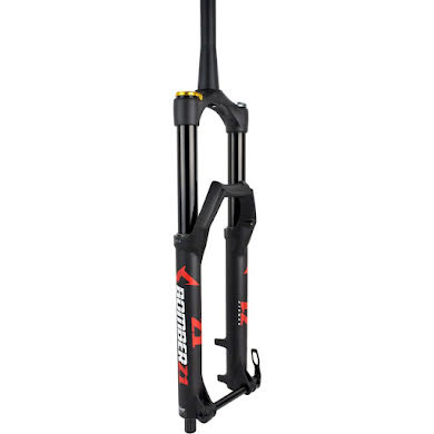 "Marzocchi Bomber Z1 Suspension Fork: 27.5"", 180mm, Grip Damper, 15 x 110mm, 44mm Offset Thumb"