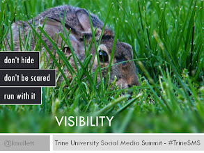Photo: VISIBILITY - Are you visible online? You can't build a relationship or tell your story if you are not online. Run with it!