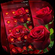 Classic Romantic Shiny Red Rose Theme APK