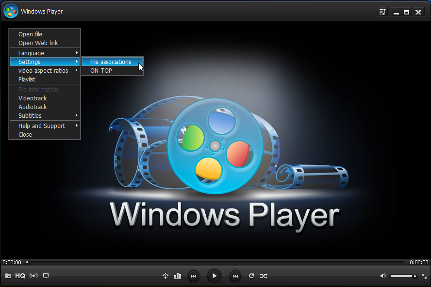 WindowsPlayer - an innovative video player no codecs required!