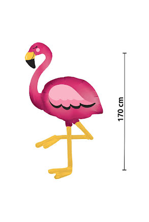 Foliefigur, flamingo