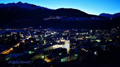 Photo: Bormio, sLucia e Oga nell'ora blu  [ph. Alberto URBANI - thanks!]