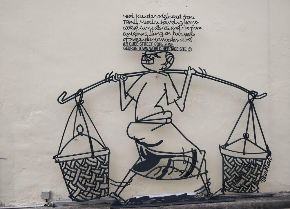 streetsign+nasi+kandar+street+food+street+art+penang+georgetown+malaysia