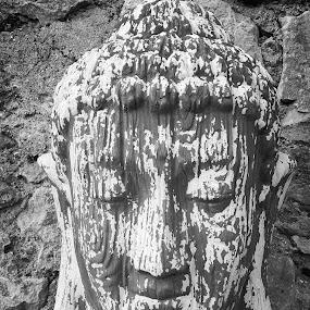 Stone portrait by Vali Tina - Uncategorized All Uncategorized ( face, cold, stone, close up, portrait,  )