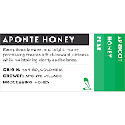 Aponte Honey  - Colombia