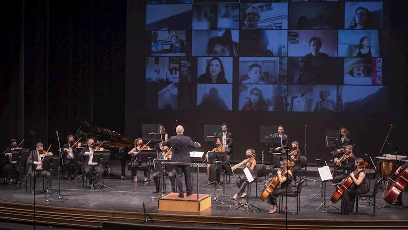La Orquesta Ciudad de Almería celebra su segundo concierto dentro del Plan Reactiva Cultura 20.
