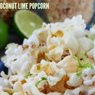 Toasted Coconut Lime Popcorn.