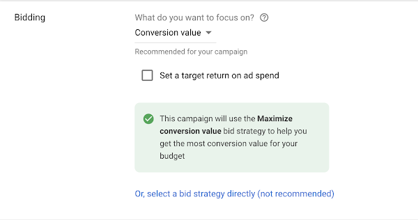 Maximize conversion value