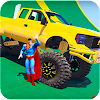 Superheroes Monster Stunt Race
