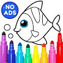 Learning & Coloring Game for Kids & Preschoolers icon