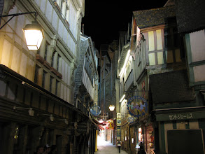 Photo: Cozy and empty at night, the tiny streets are very different during the day...