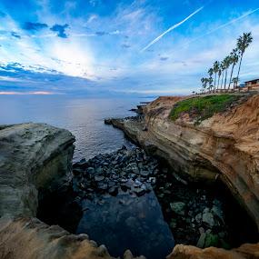 Sunset Cliffs Pit by Clifford Swall - Landscapes Beaches ( water, sunsetcliffs, san diego, cliffs, sunset, ocean, beach )