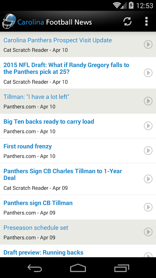 Carolina Football News- screenshot
