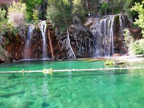 Photo: The waterfall into Hanging Lake