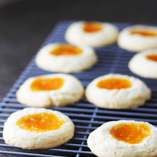 Apricot Almond Thumbprint Cookies Recipe