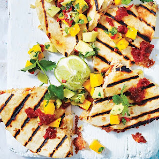 Chicken Quesadillas With Chipotle Relish And Mango Salsa