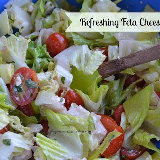 Refreshing Feta Cheese Salad.