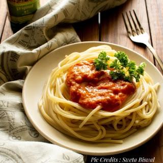 Spaghetti Alla Marinara Vegan.